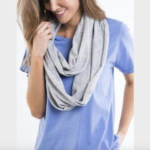 Elm Grey Marle Cotton Knit Poinelle Loop Scarf